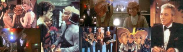 Pictures from DS9: Vic Fontaine with Quark, Rom and Nog